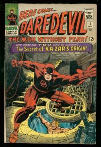 DAREDEVIL #13 1966-MARVEL COMICS- KA-ZAR VG