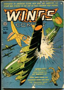 Wings #20 1942-Fiction House-Hooded Menace-Jane Martin-Skull Squad-G/VG