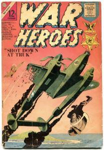 War Heroes #7 1964- Parachute cover- Charlton Silver Age G/VG