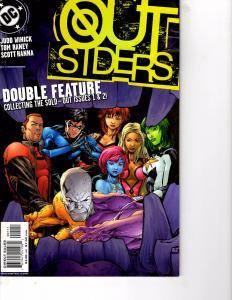 Lot Of 2 DC Comics Outsiders #1, #2 and Doom Patrol #14 JB4