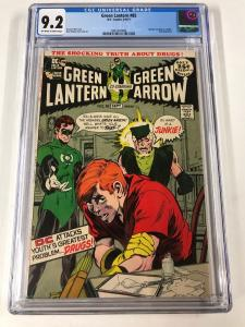 Green Lantern 85 Cgc 9.2 Ow/w Pages Anti-drug Issue Dc Bronze Age