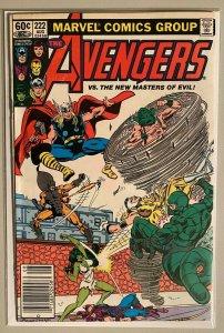 The avengers vs the new master of evil #222 NS 5.0 VG/FN (1982)