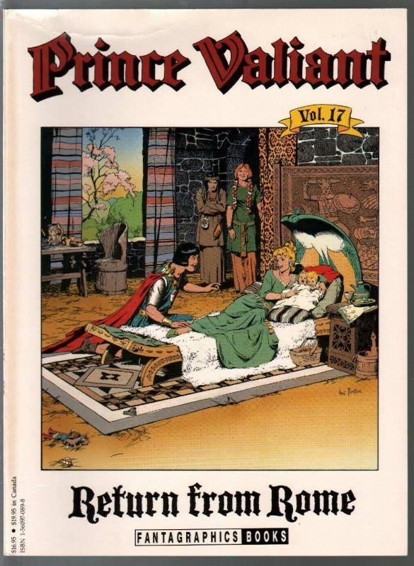 Prince Valiant #17 1990-Fantagraphics-color reprint-Hal Foster-Return From Rome-