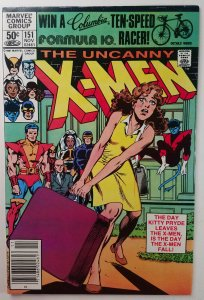 The Uncanny X-Men #151 Kitty Leaves Claremont - Newsstand Variant - NM -  '81