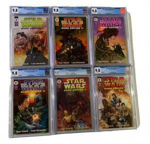 Star Wars Dark Empire II 1 2 3 4 5 6 1-6 All Cgc 9.8 White Pages Regular Edition
