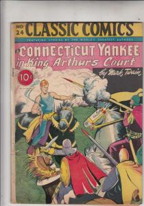 Classic Comics #24 (Jun-54) VG- Affordable-Grade Merlin