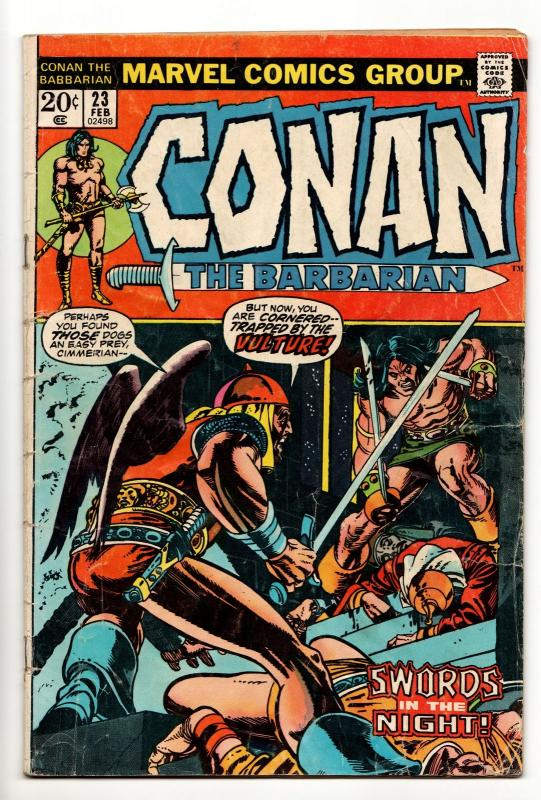 Conan the Barbarian #23 (Marvel, 1973) VG