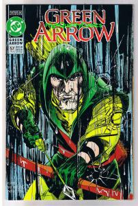 GREEN ARROW #57, NM, Mike Grell, Not a Drop to Drink, 1988, more GA in store
