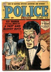 Police Comics #119 1952- Ken Shannon- T-Man -Amateur restoration