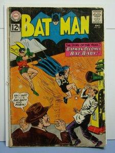 Batman #147 (DC Comcis, May 1962) Batman Becomes Bat-Baby Rare Silver Age