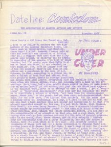 Dateline Comicdom #19 11/1966-Robert Klein-newsletter-comic collector info-FN