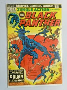 Jungle Action #8 Black Panther origin 3.5 (1974)