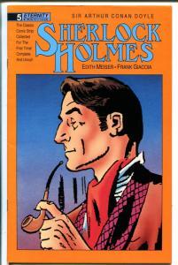 Sherlock Holmes #5 1988-Eternity-Conan Doyle-newspaper strip reprint-FN/VF