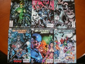 6 Near-Mint DC Comic BLACKEST NIGHT #2 #3 #4 #5 #7 #8 (2009) Green Black Lantern