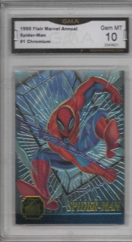 1995 Flair Marvel Spider-Man Annual Chromium #1 Graded 10