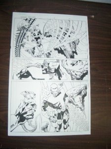 COMMON GROUNDS #2 PG 4 ORIGINAL COMIC ART-DAN JERGENS   FN