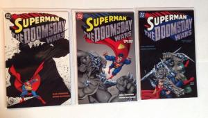 Superman The Dooms Day Wars 1-3 Complete Near Mint Lot Set Run
