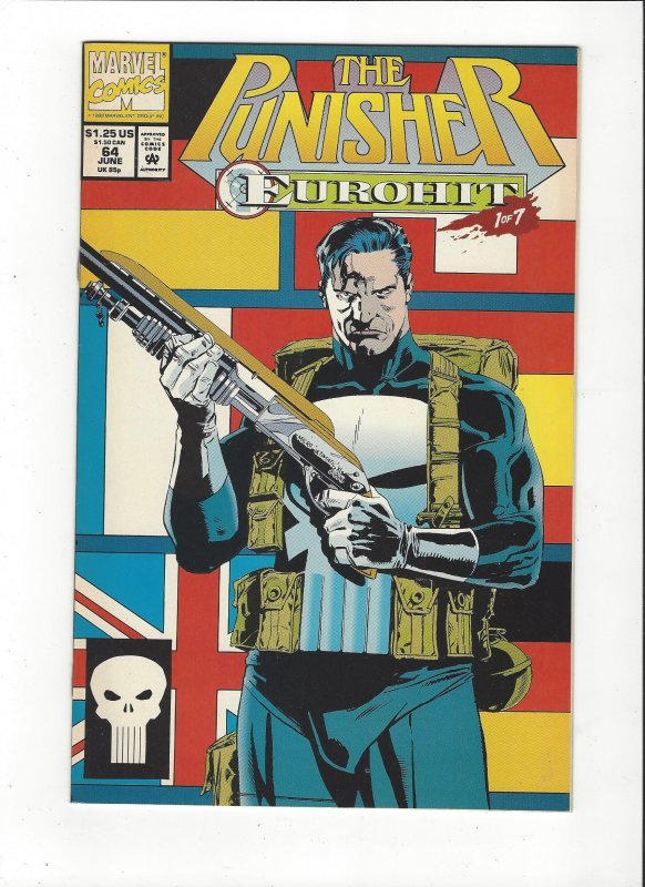 The Punisher #64 (1987)  Eurohit 1 of 7 Marvel Comics NM