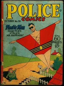 Police Comics #59 1946- Plastic Man- Spirit- Golden Age G