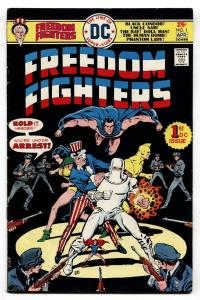 Freedom Fighters #1-1976-First issue-comic book-DC