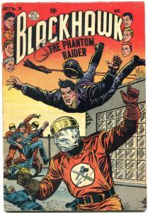 BLACKHAWK COMICS #78 1954-PHANTOM RAIDER-QUALITY COMICS VG