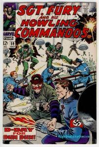 SGT FURY #59, VF+, War, WWII, Hitler, Severin, Germans, 1963, more War in store