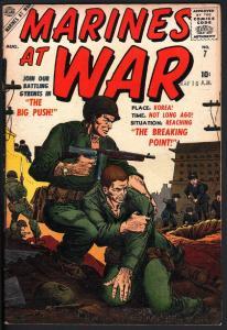 MARINES AT WAR #7 ATLAS COLAN SINNOTT STORY ART 1957 VF