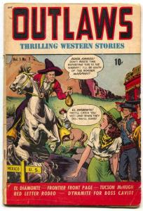 Outlaws #7 1949- Mexican bandit cover- Graham Ingles VG-