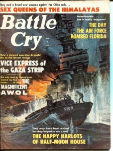 Battle Cry 2/1963-PT Boat cover-Hitler's Amazon Women-cheesecake-VG