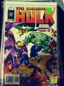 incredible hulk  # 445 1996  MARVEL ONSLAUGHT IMPACT 2  AVENGERS FALCON