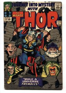 JOURNEY INTO MYSTERY #123-comic book-SILVER AGE MARVEL-THOR-