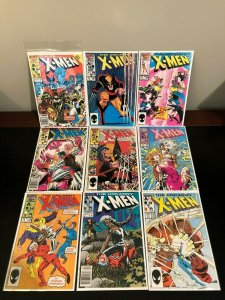 Uncanny X-Men 17 Book Lot - 1st Appearance of Mr Sinister and The Marauders