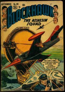 BLACKHAWK #68-THE ASSASSIN SQUAD-ATOM SMASHER COVER VG-