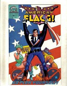 13 Comics American Flagg Vol I 50 Vol 2: 1 2 3 4 5 7 8 9 10 11 12 Special 1 GK49