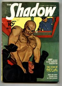 SHADOW 1941 July 1-high grade- STREET AND SMITH-RARE PULP vf
