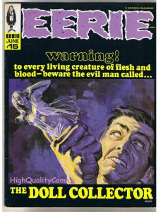 EERIE #15, FN+, Warren, Gray Morrow, Doll Collector, Graves, more in store