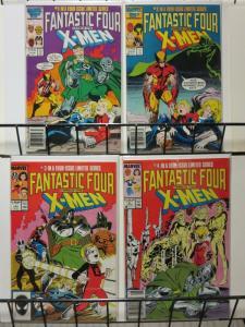 FANTASTIC FOUR VS X-MEN!  CLAREMONT!GREAT! 1-4 complete