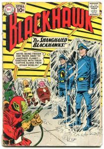 BLACKHAWK #160 1961-DC COMICS-FROZEN ALIVE SCI FI ISSUE G/VG