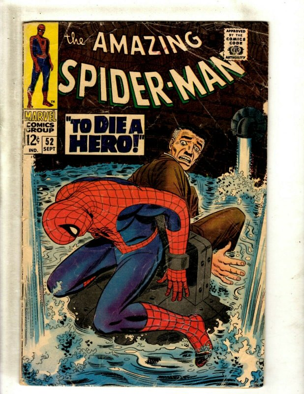 Amazing Spider-Man # 52 VG Marvel Comic Book Mary Jane Appearance Gwen BJ1