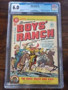 Boy's Ranch 1 CGC 6.0 origin of Boy's Ranch Jack Kirby cover Simon and Kirby Art