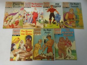 Classics Illustrated Junior comic lot 7 different from #511-567 avg 4.0 VG