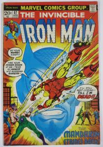 IRON MAN #57 VG; TAPE ON COVER! THE MADARIN!