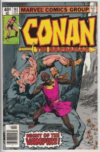 Conan the Barbarian # 103 Strict NM- Artist John Buscema