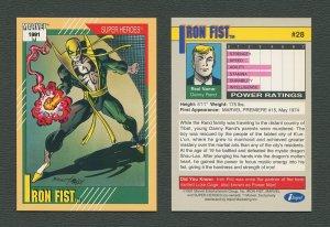 1991 Marvel Comics II  Card  #28 ( Iron Fist )  MINT
