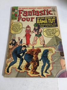 Fantastic Four 19 Vg Very Good 4.0 Tape On Spine First Rama-Tut Kang Marvel SA
