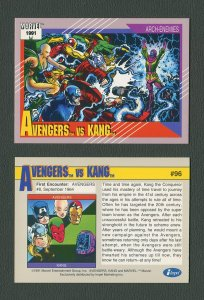 1991 Marvel Comics II  Card  #96 ( Avengers vs Kang )  MINT