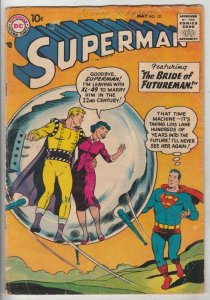 Superman #121 (May-58) GD/VG Affordable-Grade Superman, Jimmy Olsen,Lois Lane...