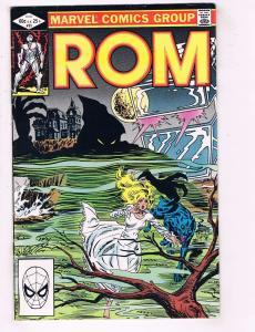 Rom # 33 FN-VF Marvel Comic Book Vol. # 1 1st Print Haunted House J77
