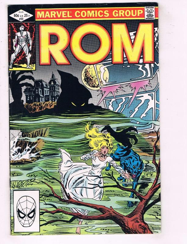Rom # 33 FN-VF Marvel Comic Book Vol. # 1 1st Print Haunted House J77
