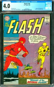 Flash #139 CGC Graded 4.0 Origin and 1st appearance of Profersor Zoom (Revers...
